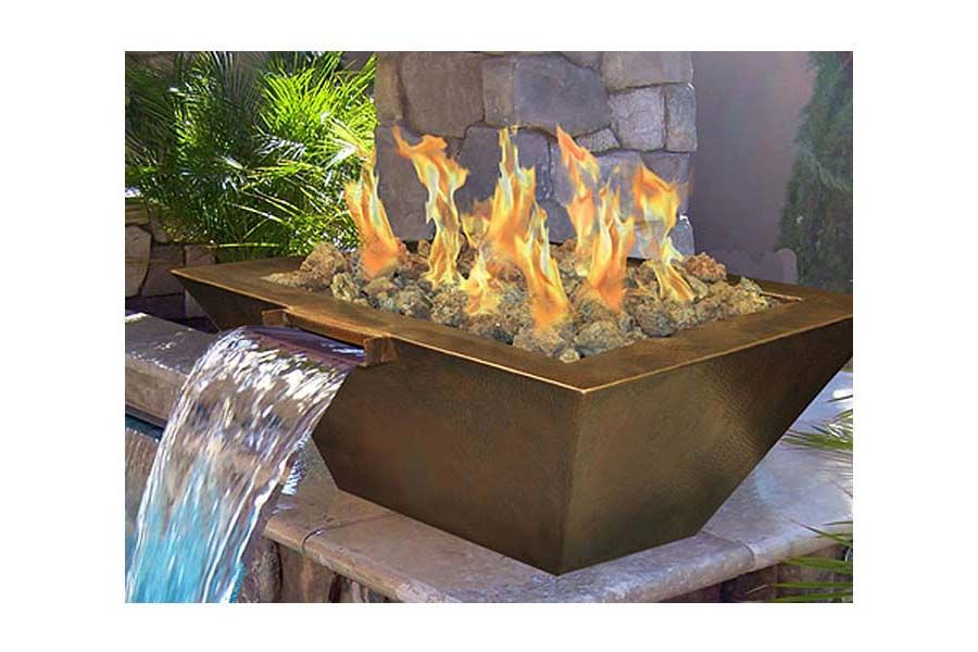 natural gas fire pit diy outdoor kits insert with glass stone