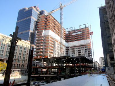 Photos: 1st phase of East Market tops off