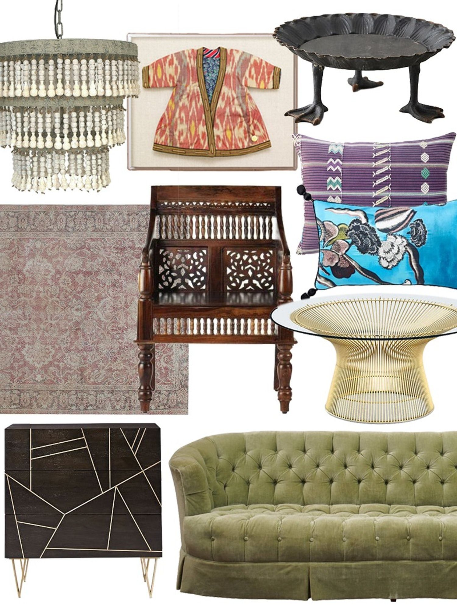 Create the Look: Eclectic Collector Living Room Shopping Guide