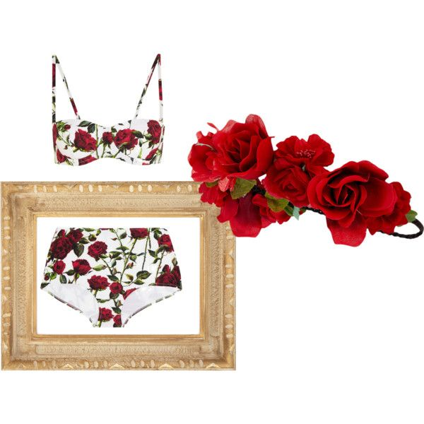 Roses are Red by lemoutonbleugirl on Polyvore featuring polyvore fashion style Dolce&Gabbana Accessorize