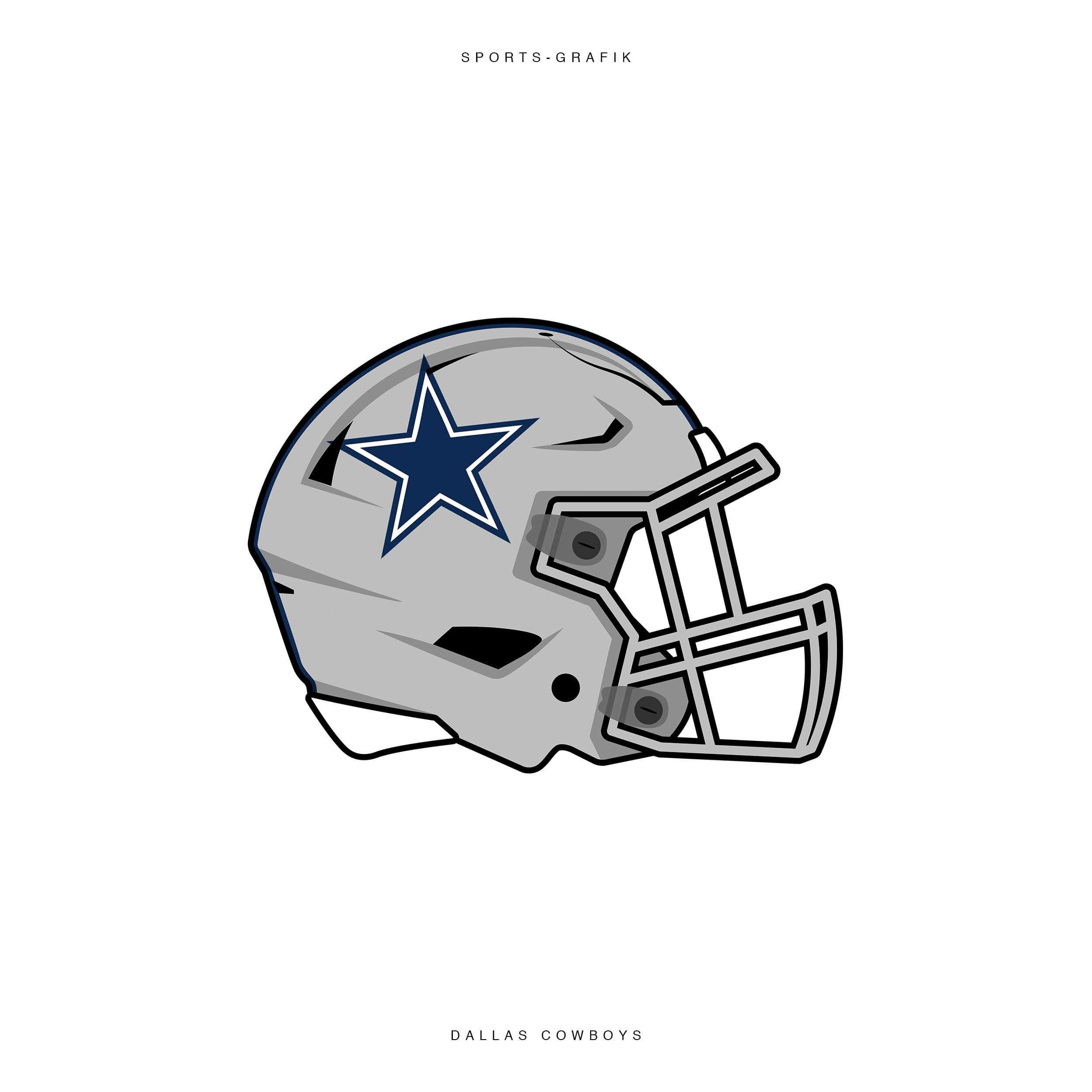 Dallas Cowboys Helmet Fanart NFL American Football