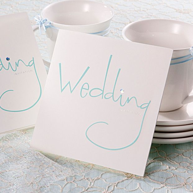 Wedding Venues Near Me Cheap: Mint Illustration Simple Wedding Invitations