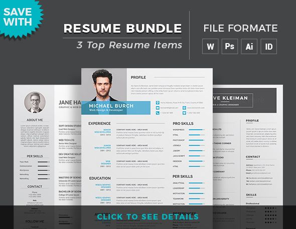 Resume Word Template  Cv Template With Super Clean And Modern