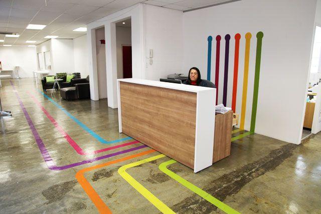 rezeption wayfinding signage office interior design