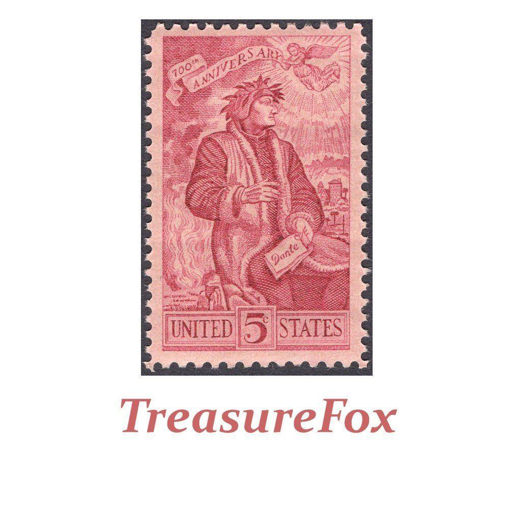 TWENTY 5c Dante Alighieri stamps .. Vintage Unused Postage Stamps ...