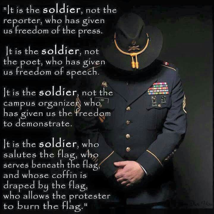 It is the Soldier...