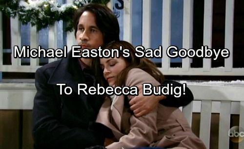 General Hospital Spoilers Michael Easton S Heartbreaking Goodbye To Rebecca Budig Michael Easton General Hospital Soap News
