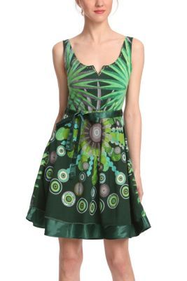 This is one of our favourite summer dresses - it's an explosion of pure Desigual colour. Worn by none other than Adriana Lima in the new Desigual TV ad. Try it on for size!