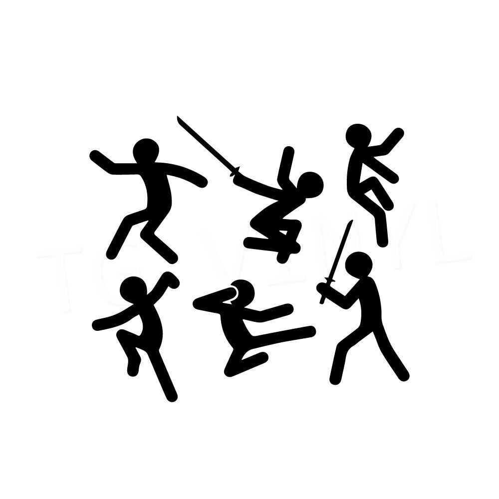 2 9 Ninja Men X6 Vinyl Decal Sticker Car Window Laptop Karate Funny Fight Man Tgvinyl Funny Fights Vinyl Decal Stickers Car Stickers [ 1000 x 1000 Pixel ]
