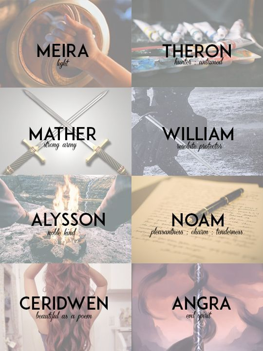 When you finally knew the meaning behind the names of ...