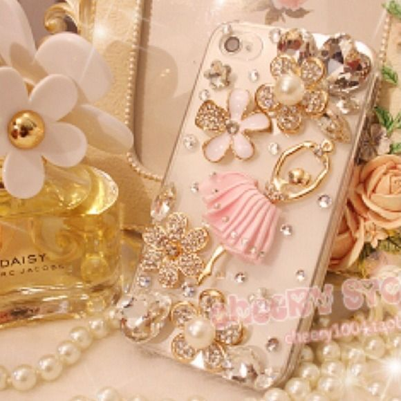 iPhone 4/4S Rhinestone Ballerina Phone Case Fashionable and chic! None Accessories Phone Cases