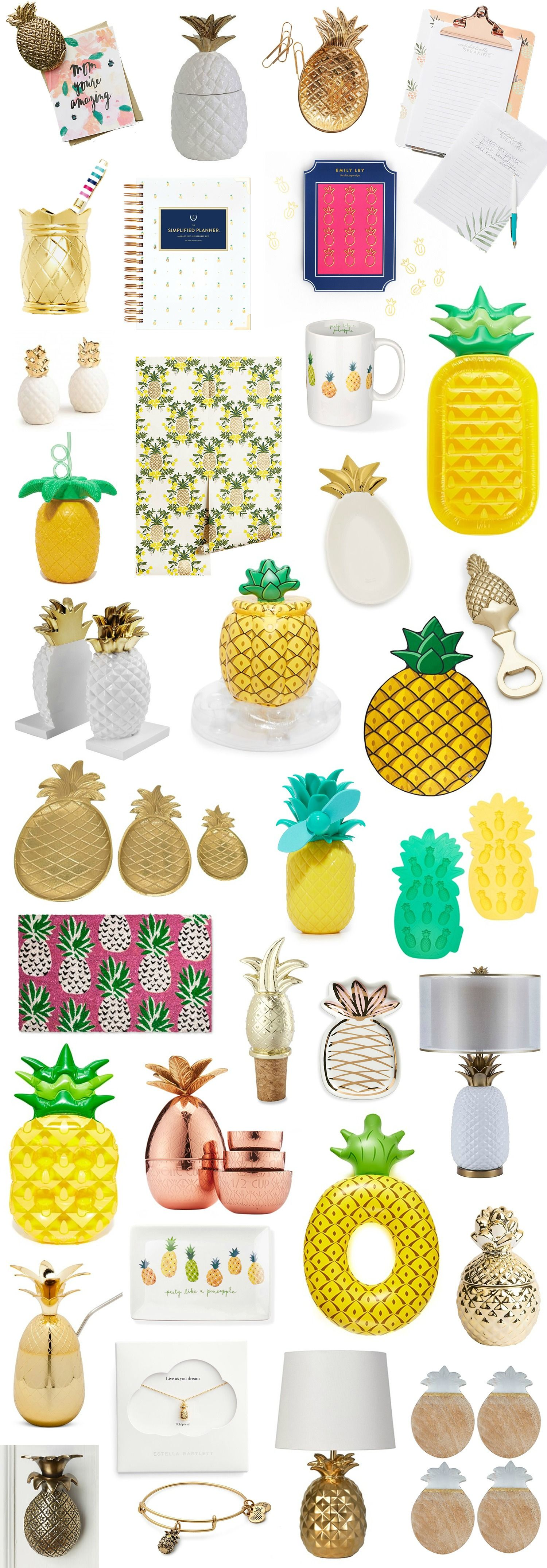 If It S Shaped Like A Pineapple I Need It Here S A Round Up Of The Best Pineapple Home Decor Office Items And Gift Pineapple Room Cute Pineapple Pineapple