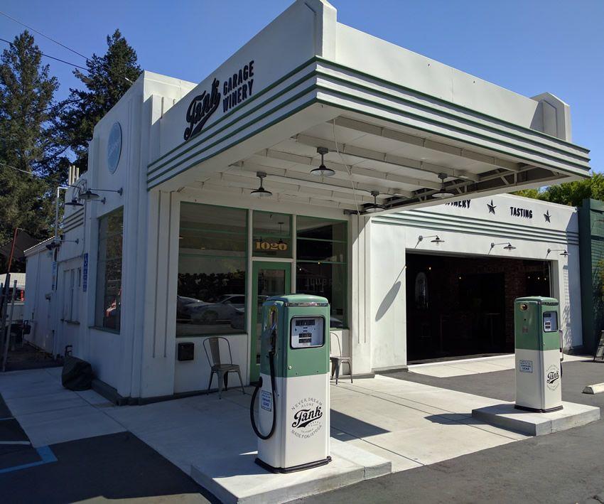 photo of tank garage winery in calistoga california - Tank Garage Winery