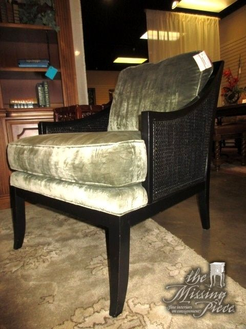 Taylor King Cane Back Accent Chair In A Dark Finish With Sage Upholstered  Seats. Love The Contrast Between The Dark Wood Frame And The Light, ...