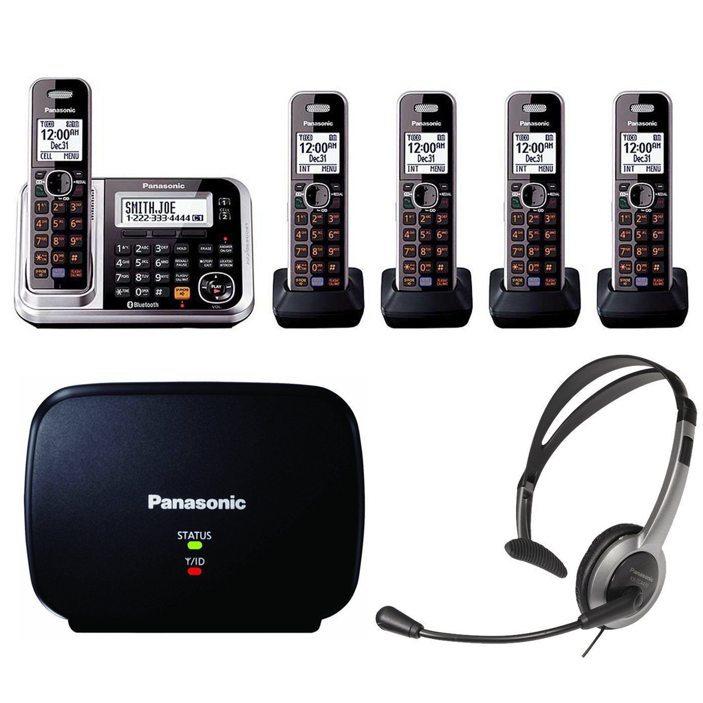 Panasonic Kx Tg7875s Link2cell Bluetooth Enabled Phone Kx Tg680s Cordless Telephone Headset Range Extender Cordless Telephone Bluetooth Phone