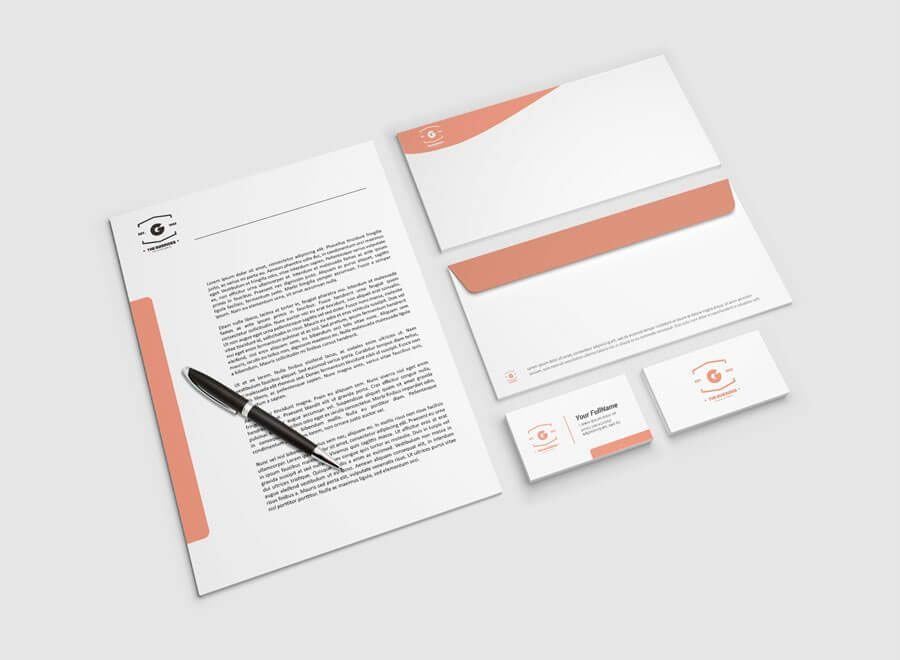 Letterhead Free Mockup Psd With Images