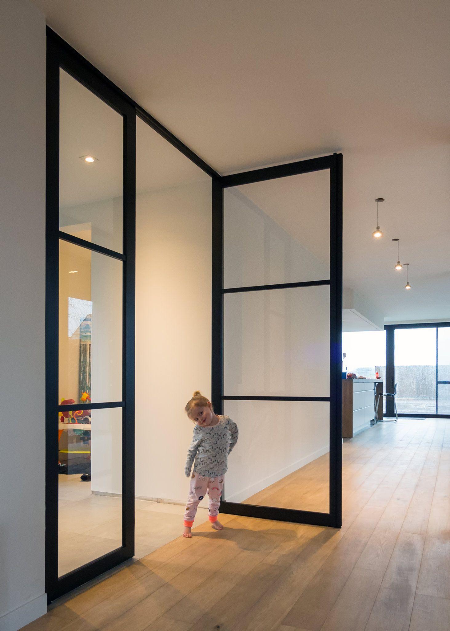 Steel look binnendeuren met glas op maat