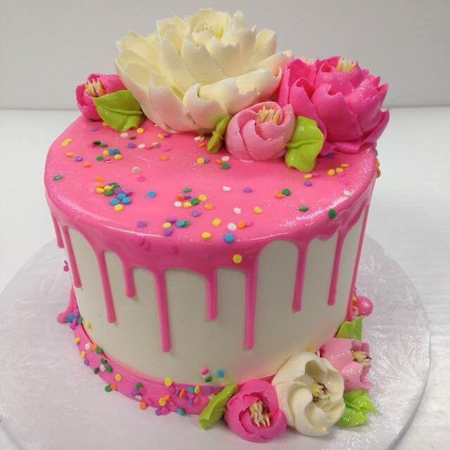Enjoyable Pretty Pink Drippy Cake Idea With Images Drip Cakes Novelty Funny Birthday Cards Online Hendilapandamsfinfo