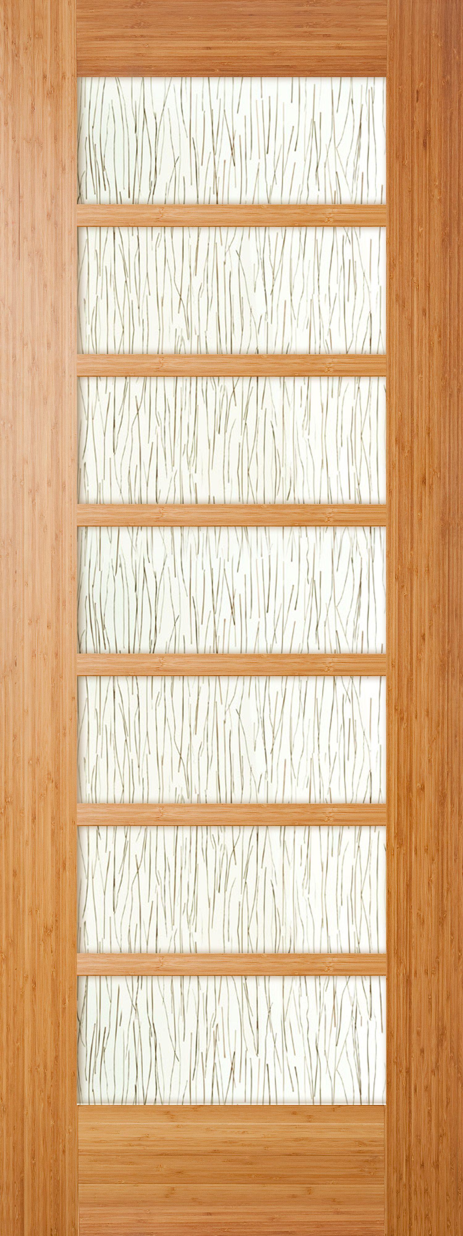 This Stile And Rail Door Has Seven Glass Panels With A Grain Design In The Glass Door Design Glass Panels Beautiful Doors