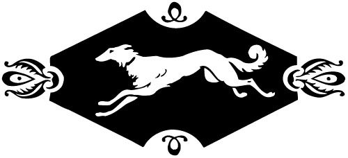 This version of Knopf's borzoi colophon was created by T.M. Cleland in 1930's.