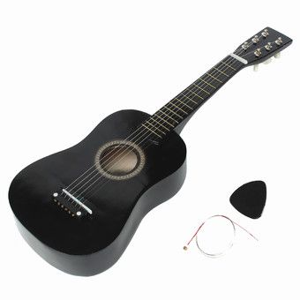 Buy HOT New Beginners Black Basswood Acoustic Guitar With Pick Wire Strings Online At Lazada