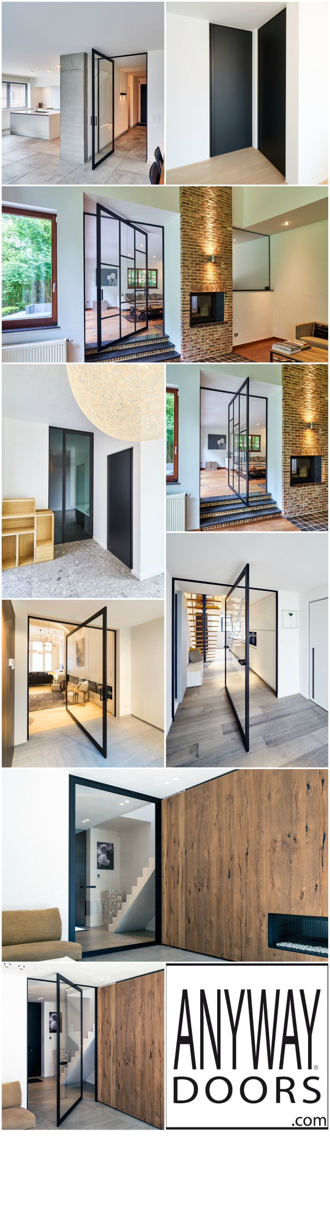 Searching for modern interior doors? Anyway Doors creates timeless ...