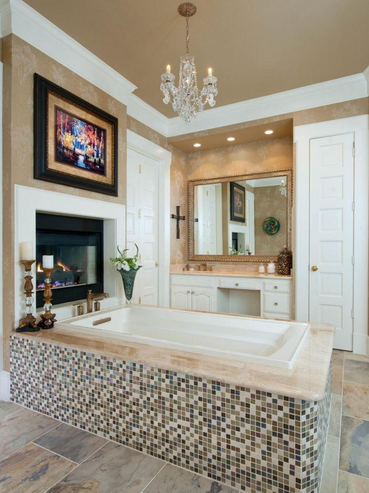 Mosaik Fliesen fürs Badezimmer 65 Ideen für die Muster