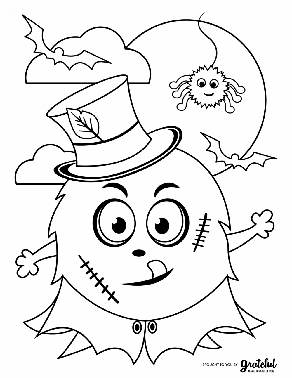 Halloween dog coloring page | Halloween coloring pages, Halloween ... | 1294x1000