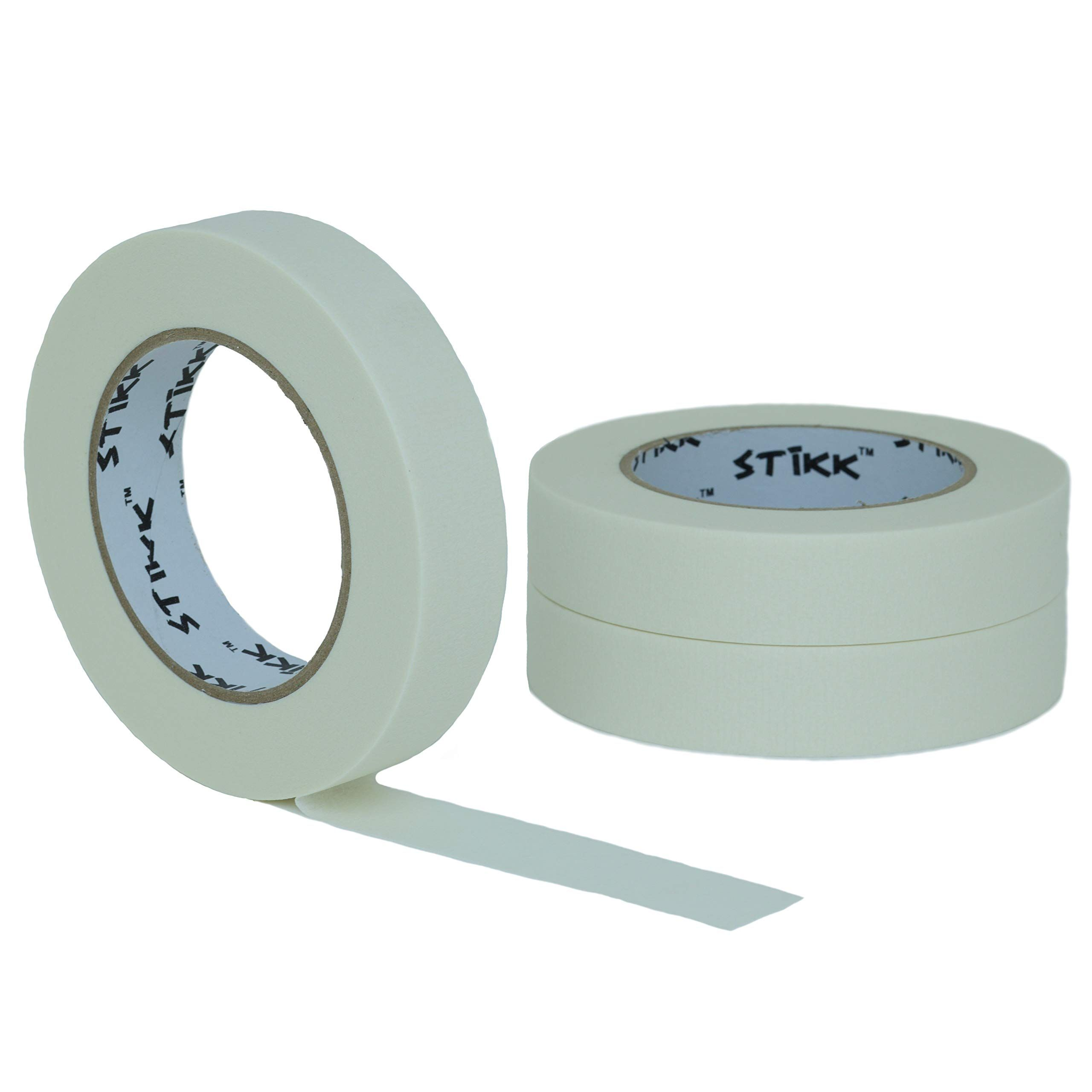 3 Pack 1 Inch X 60yd Stikk White Painters Tape 14 Day Easy Removal Trim Edge Finishing Decorative Marking Masking Tape 94 In Painters Tape Masking Tape Tape