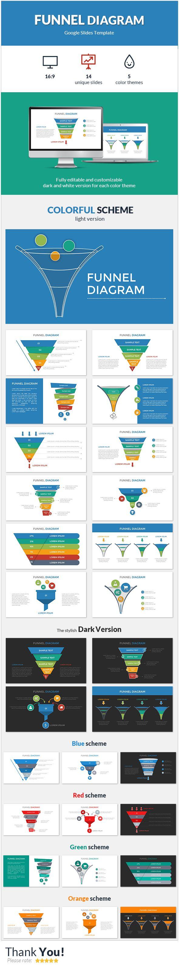 funnel diagram google slides template google slides presentation