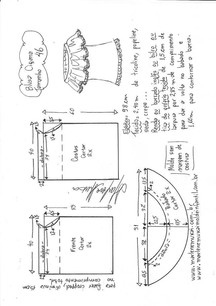 Blusa cigana – DIY – molde, corte e costura – Marlene Mukai ...