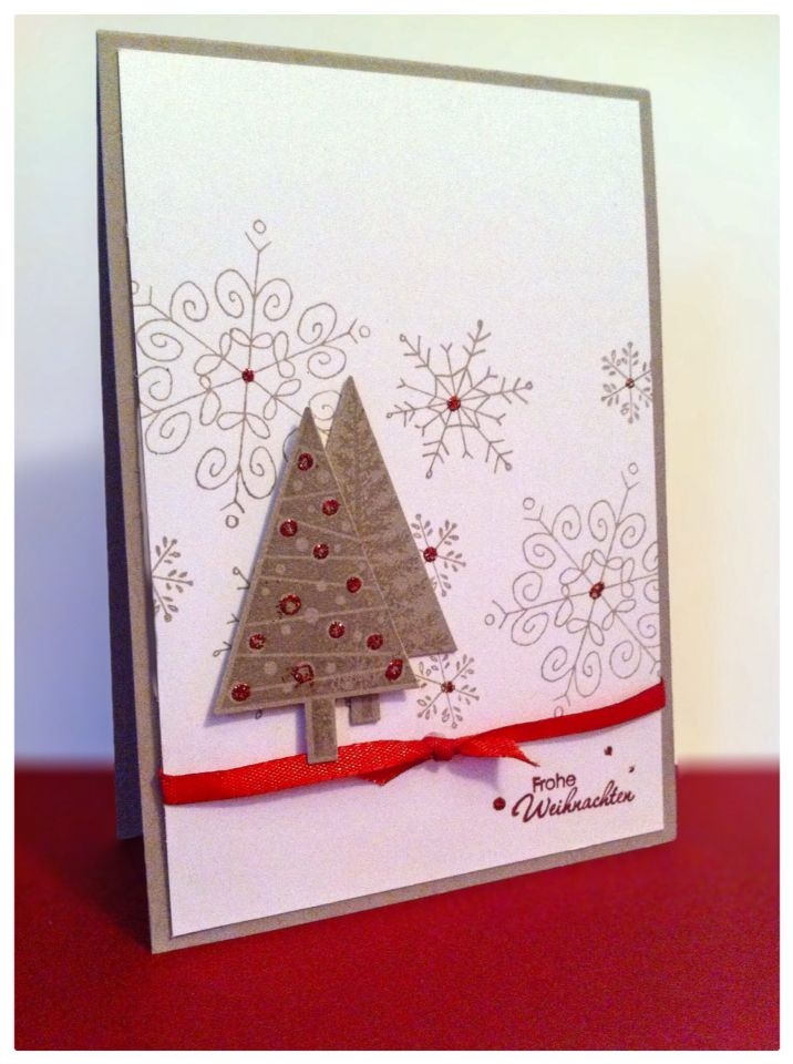 Christmas Card created with Stampin Up cardstock and their stamps ...