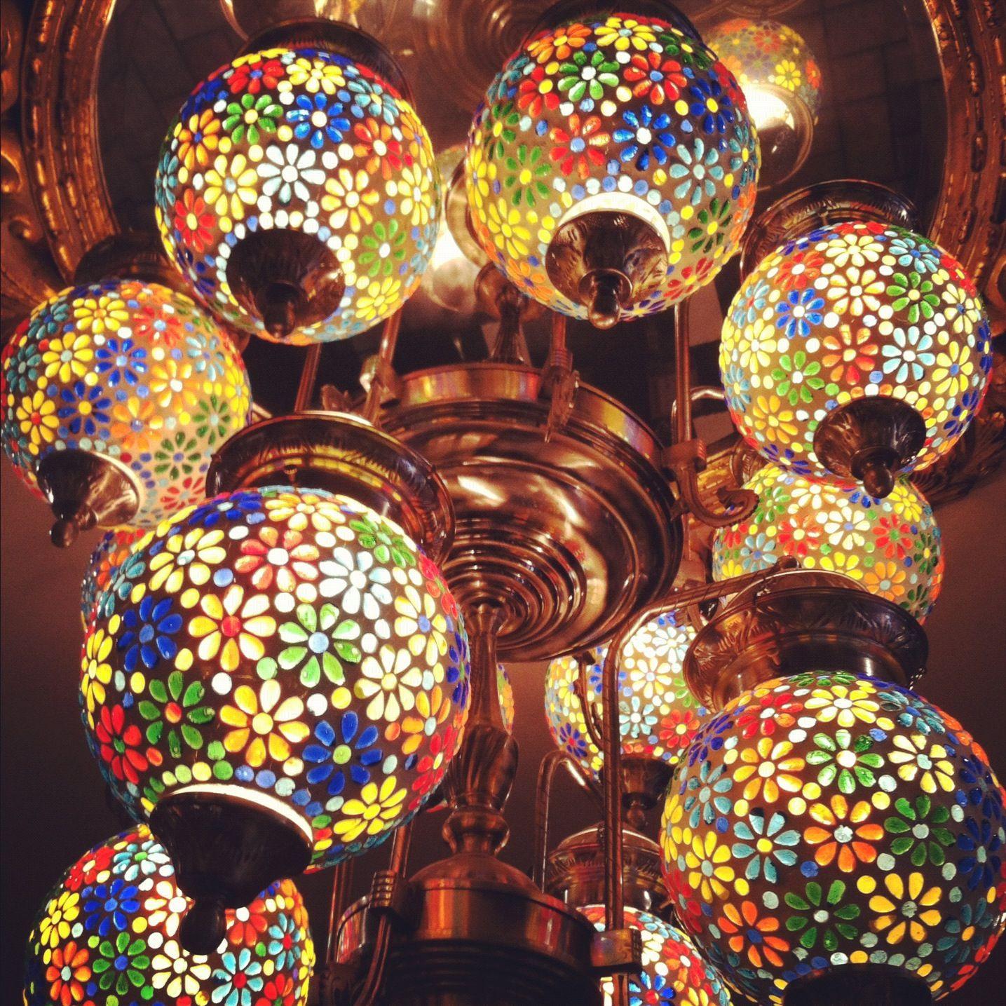 Colorful glass lanterns Interior Design Pinterest
