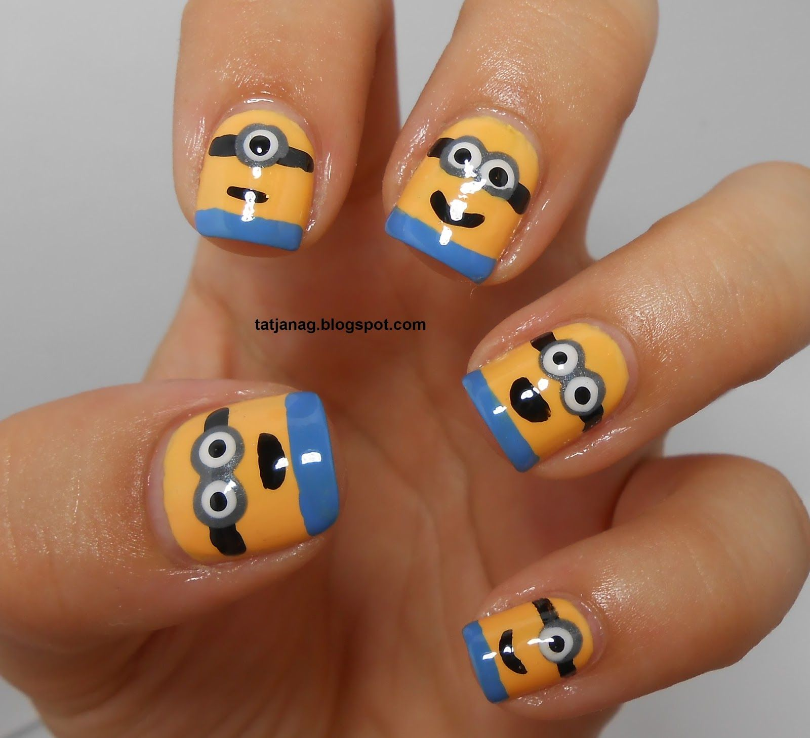 Taya: Minions Nails! | Nails | Pinterest | Minion nails and Manicure