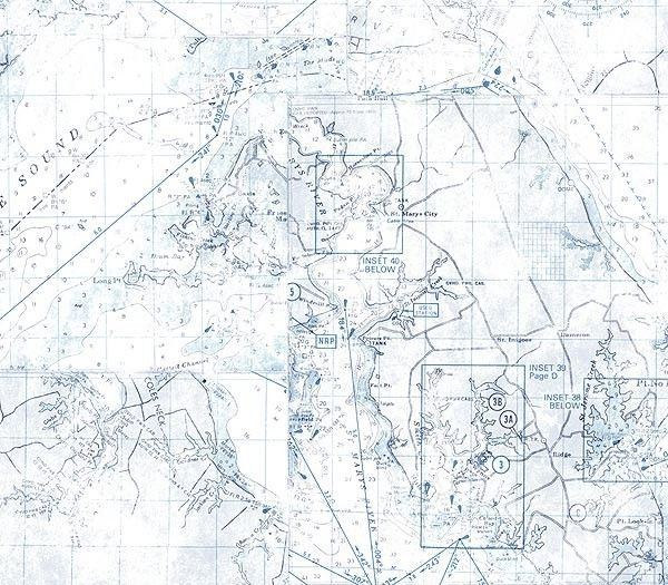 Interior Place - Blue Nautical Map Wallpaper, $24.00 (http://www.interiorplace.com/blue-nautical-map-wallpaper/)