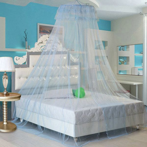 Lace Bed Mosquito Netting Mesh Canopy Princess Round Dome Bedding Net with Hooks & 260cm Elegant Lace Hanging Bedding Mosquito Net Dome Princess Bed ...
