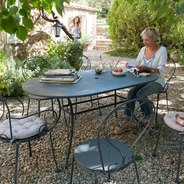 340€ Salon de jardin en métal, Collection Flores - CASTORAMA ...