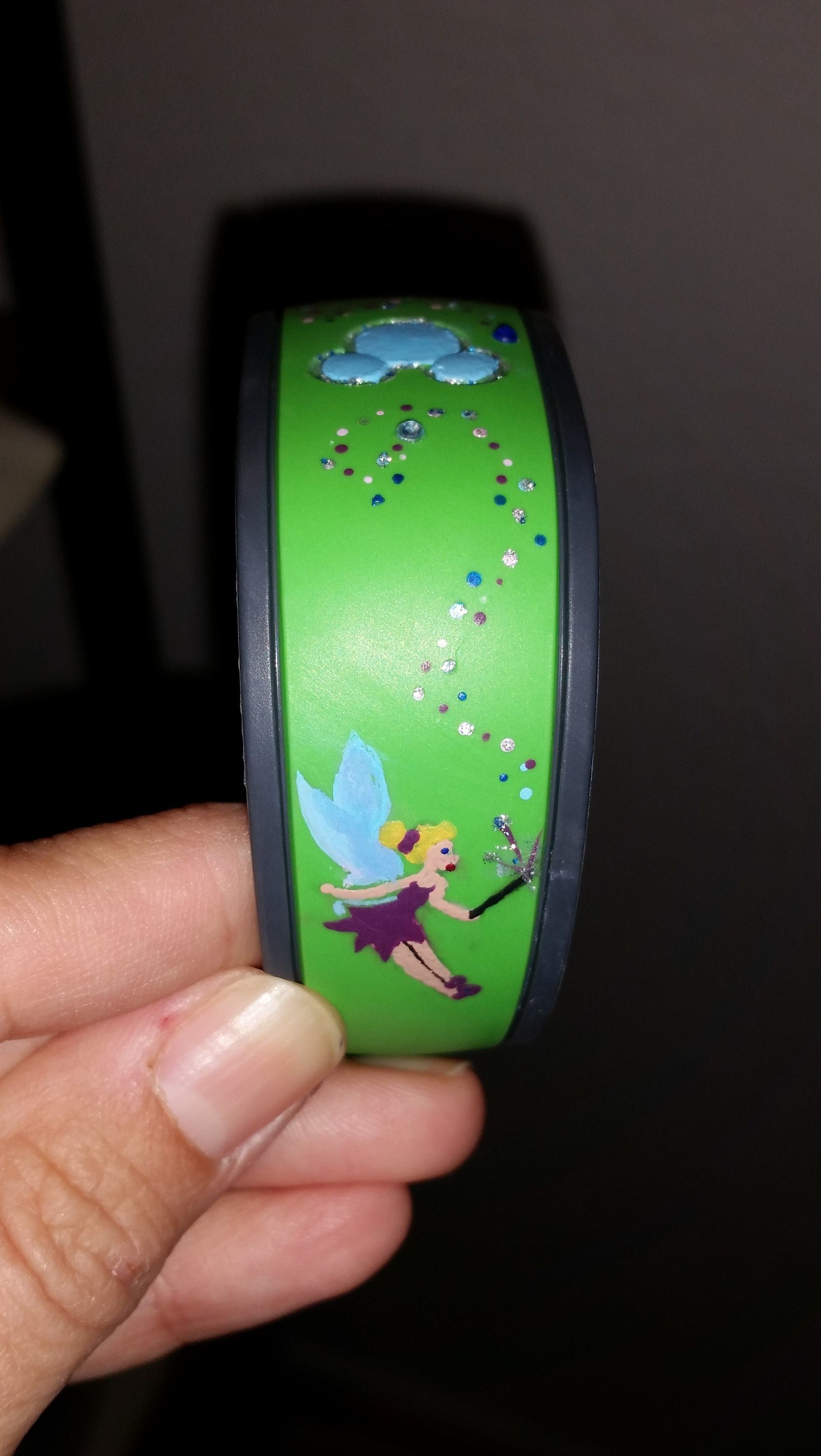 Tinkerbell magic themed magic band | All things Disney | Pinterest ...