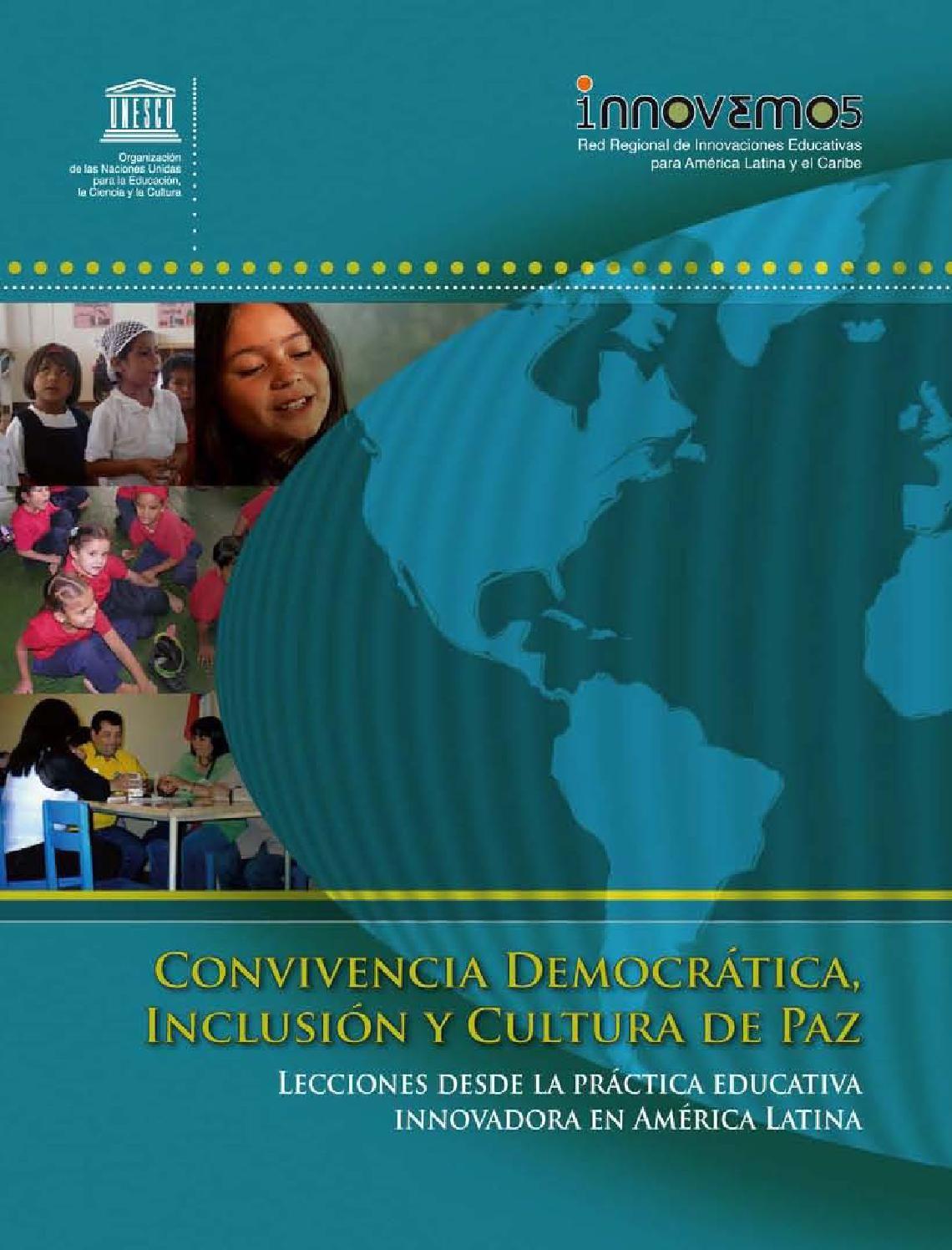 Convivencia democrática, inclusión y cultura de paz lecciones desde la práctica educativa innovadora