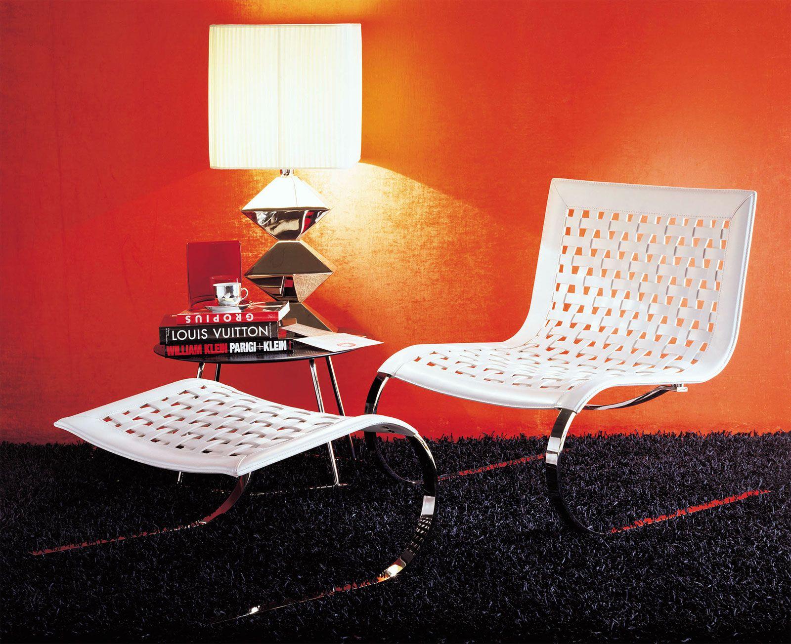 Poltrona pelle bianca rossa nera mucca poltroncina camera letto salotto cucina ingresso moderna - Camera da letto rossa e bianca ...