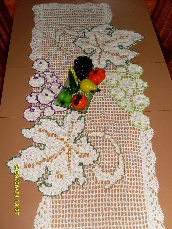 caminho de mesa uvas