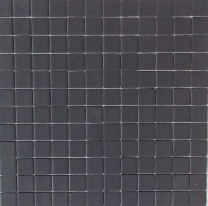 Noir mat mosa que maux plaque mate maux et mosaique for Carrelage noir mat