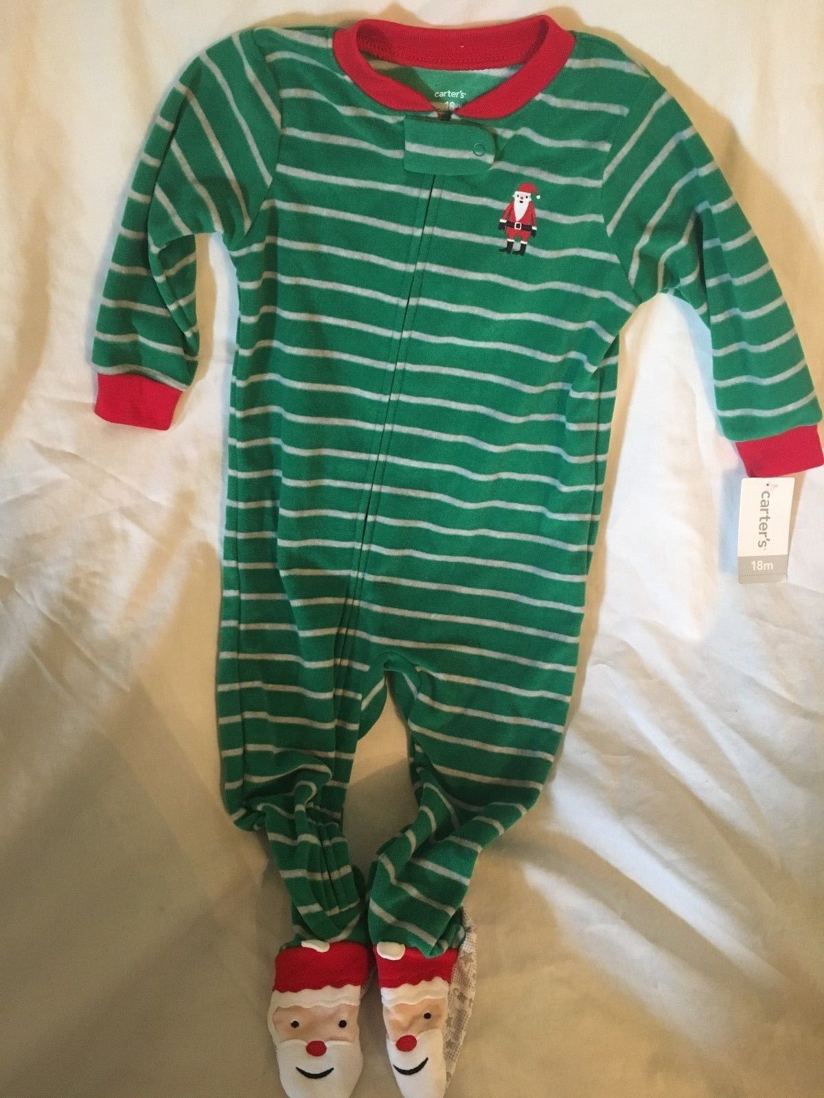 8da6dc2e0 Sleepwear 163400  Carters 18 Month Santa Claus Christmas Long Sleeve ...
