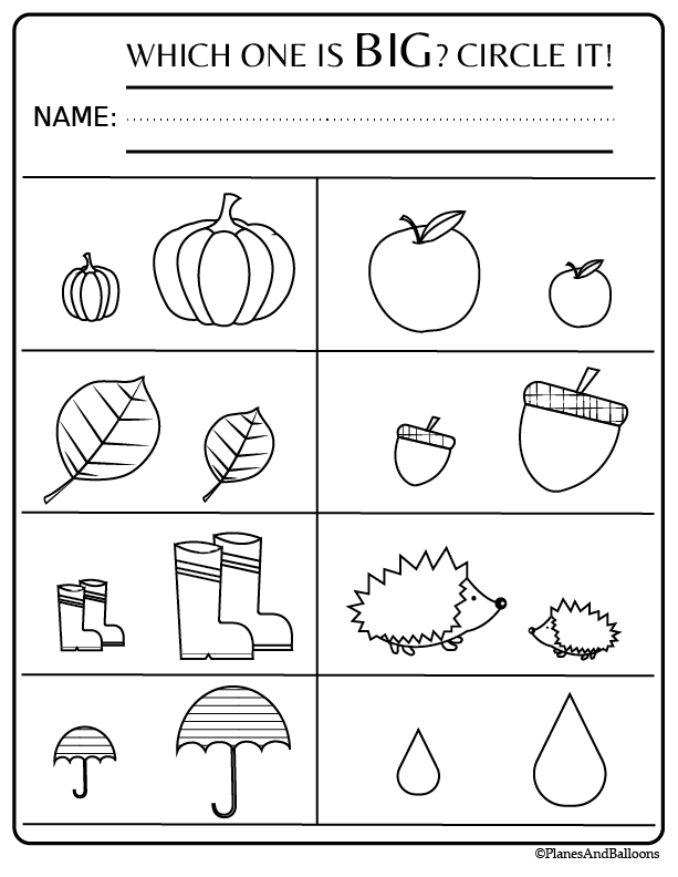 Fall Preschool Worksheets Free Printable Pdf Planes Balloons Let S Make Learning Fun Free Preschool Activities Fall Preschool Worksheets Free Preschool Worksheets