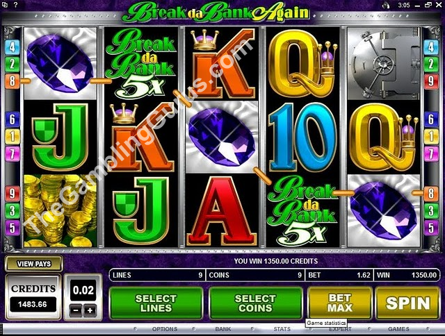 Break Da Bank Again 9 Line Slot Machine