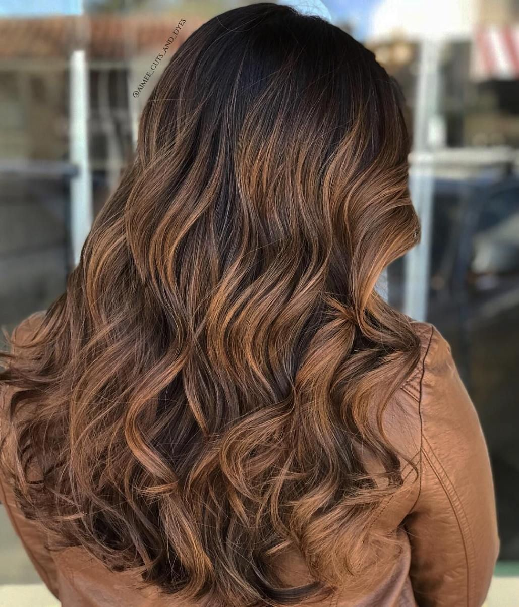 60 Looks With Caramel Highlights On Brown And Dark Brown Hair Brunette Hair Color Brown Hair With Caramel Highlights Caramel Balayage