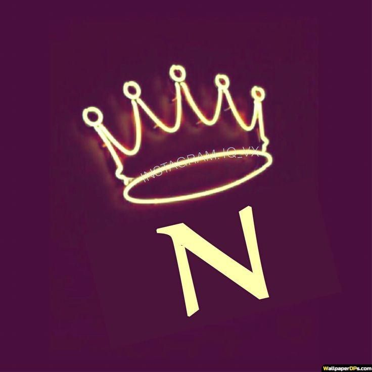 N Awesome Neon Yellow Crown Alphabet Dp Pics In 2020 Lettering Alphabet Alphabet Wallpaper Alphabet Tattoo Designs