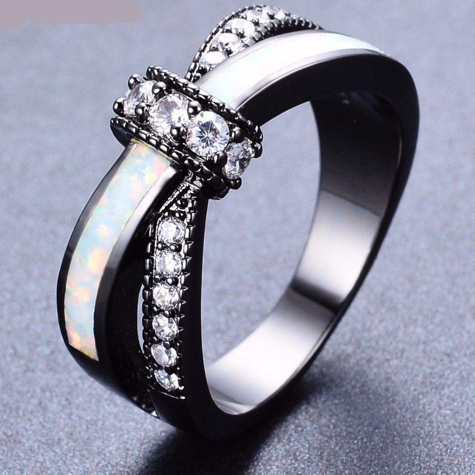 Mystic Rainbow Fire Opal Ring Black gold jewelry, Black