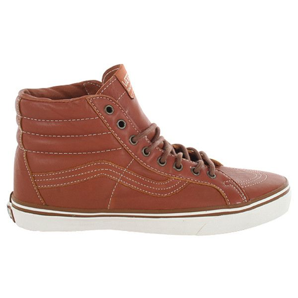 Vans California Sk8-Hi Reissue Shoes - Gingerbread-White  01ee82180d