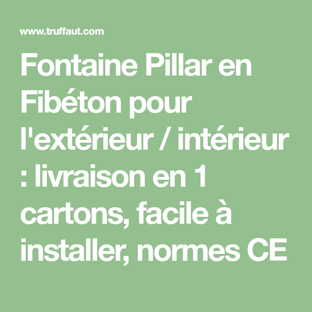 Fontaine Pilar Blanche L 35 X 35 X H 75 Cm En 2020 Coussins Exterieur Meuble Aquarium Et Exterieur